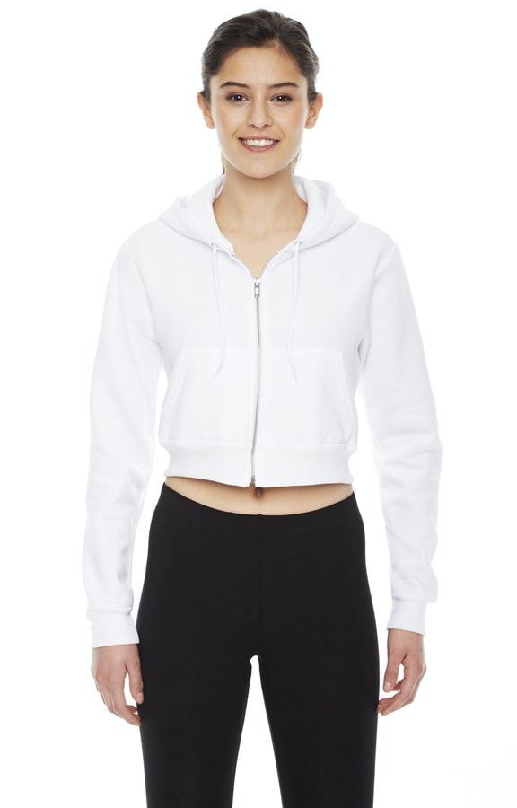 4afa54505a American Apparel F397W Ladies' Cropped Flex Fleece Zip Hoodie ...