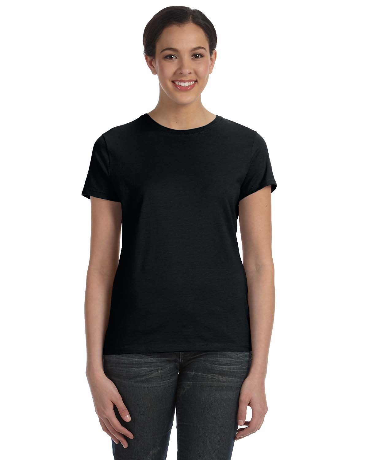 494a7b65 Hanes SL04 Ladies' 4.5 oz., 100% Ringspun Cotton nano-T® T-Shirt ...