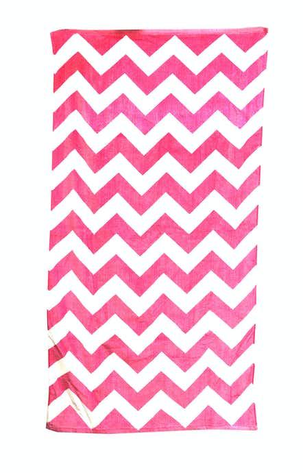 Carmel Towel Company C3060 Prfct Pnk Chvron