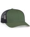 Pacific Headwear 0104PH Mossgreen/Ltcharcoal