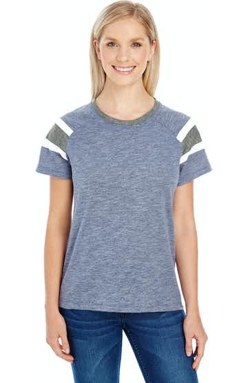 Augusta Sportswear 3011 Navy/ Slte/ Wht