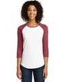 District DT6211 Heather Red / White