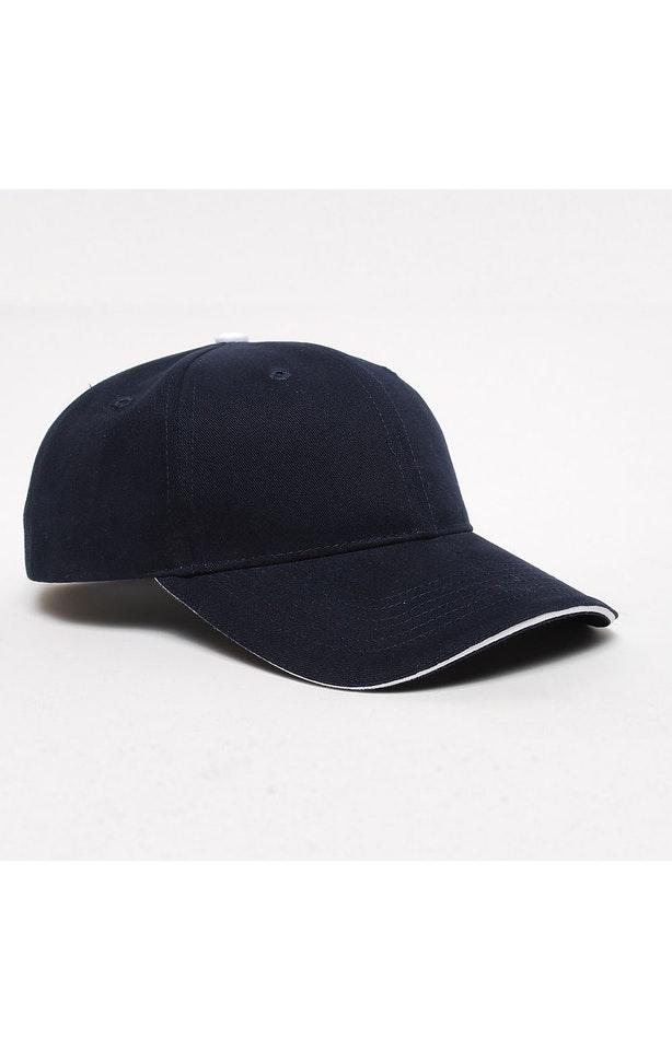 Pacific Headwear 0121PH Navy/White