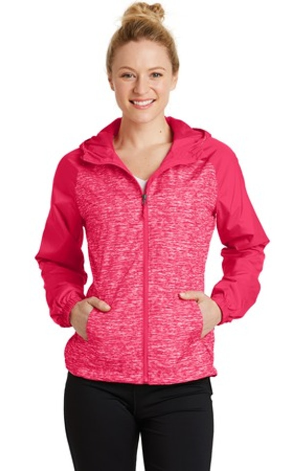 Sport-Tek LST40 Pink Raspberry Heather / Pink