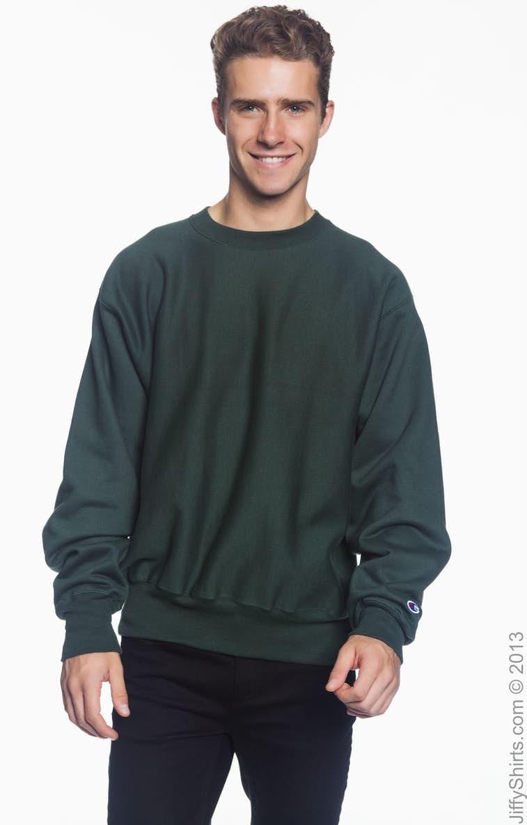 9079c4674 Champion S1049 Adult Reverse Weave® 12 oz. Crew - JiffyShirts.com