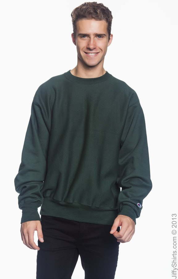 52ca85eb Champion S1049 Adult Reverse Weave® 12 oz. Crew - JiffyShirts.com