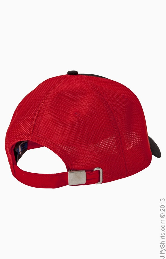 617ffed8a Big Accessories OSTM Black/Red Old School Baseball Cap with Technical Mesh