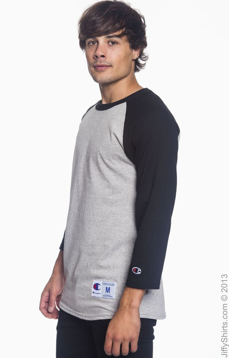 Champion T1397 Cotton Tagless Raglan Baseball T Shirt - BCD Tofu House 636073b11