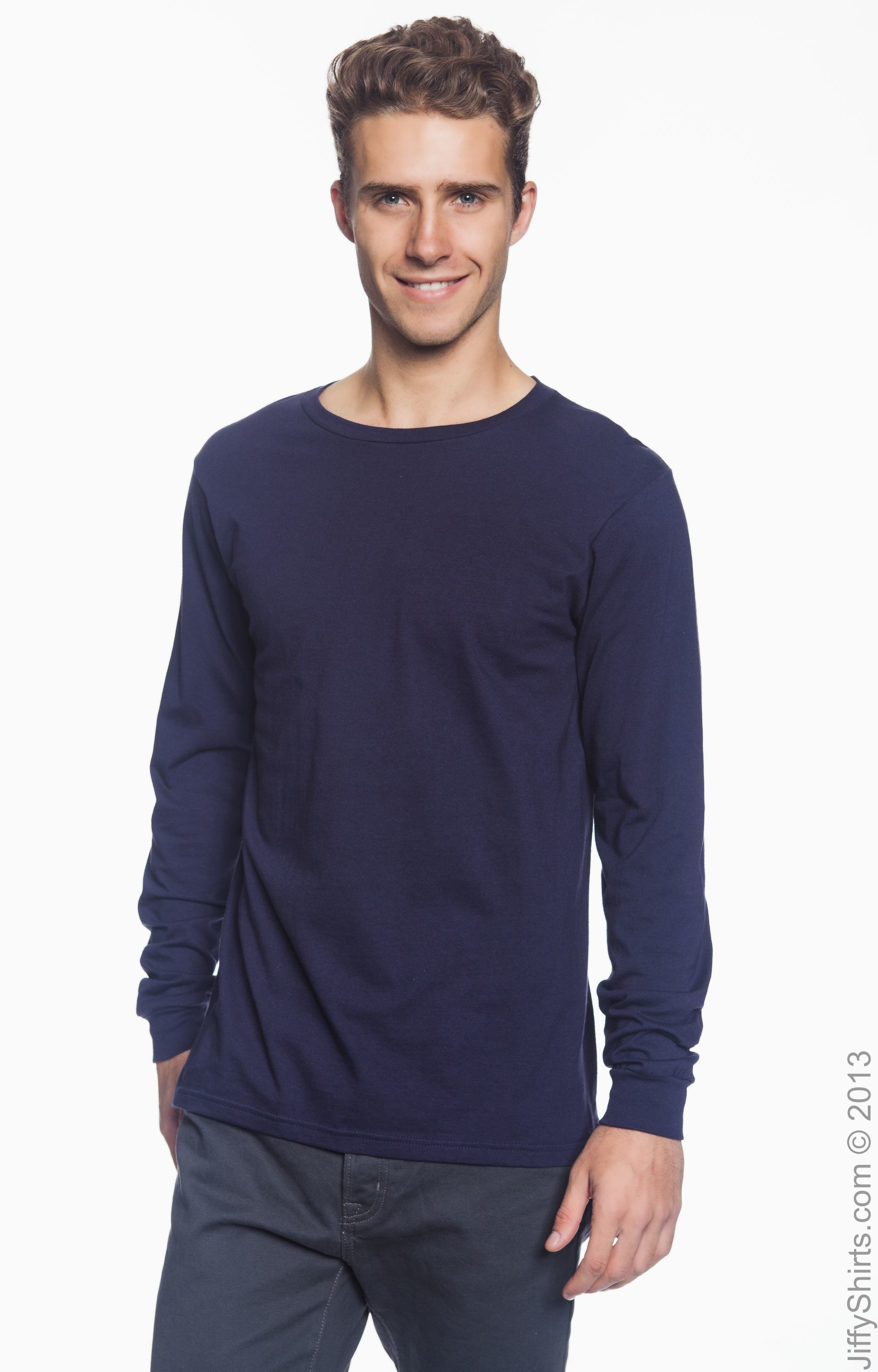 Fruit of the Loom Mens Long Sleeve Value T Shirt Dark Heather 3XL