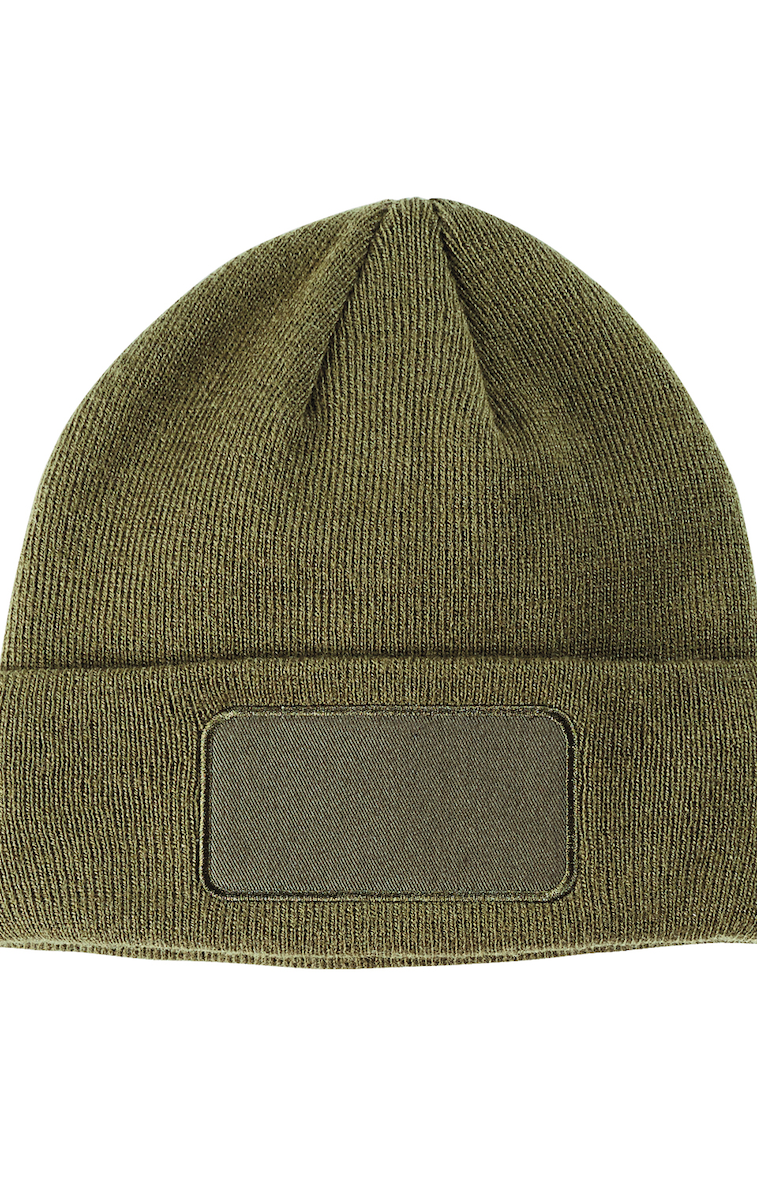 Big Accessories BA527 Patch Beanie - JiffyShirts.com ab19ebda0733