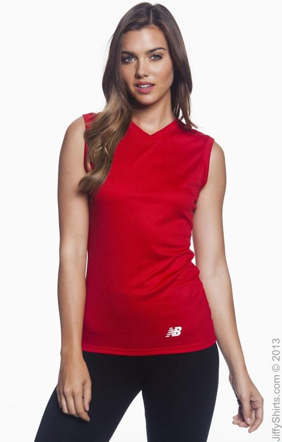 3e2b7da5c67a6 New Balance N7117L Ladies' Ndurance® Athletic V-Neck Workout T-Shirt ...