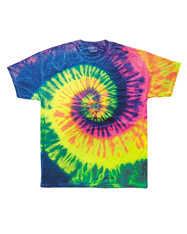 3T Toddler Tie-Dye T-Shirt Neon Rainbow