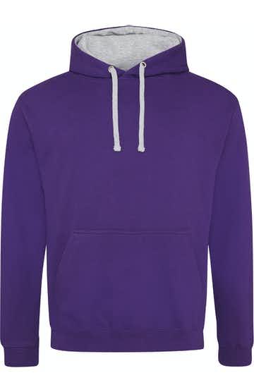 Just Hoods By AWDis JHA003 Purple / Heather Gray