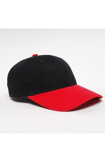 Pacific Headwear 0101PH Black/Red