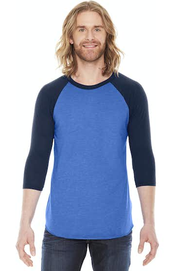 American Apparel BB453W Hth Lk Blue/ Nvy