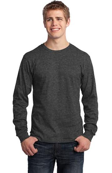 Port & Company PC54LS Dark Heather Gray