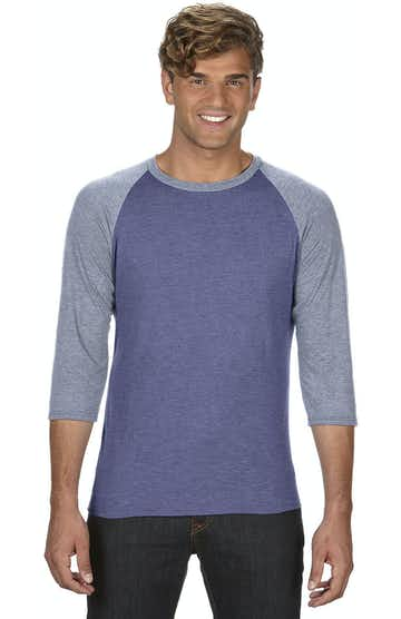Anvil 6755 Heather Blue/Heather Grey