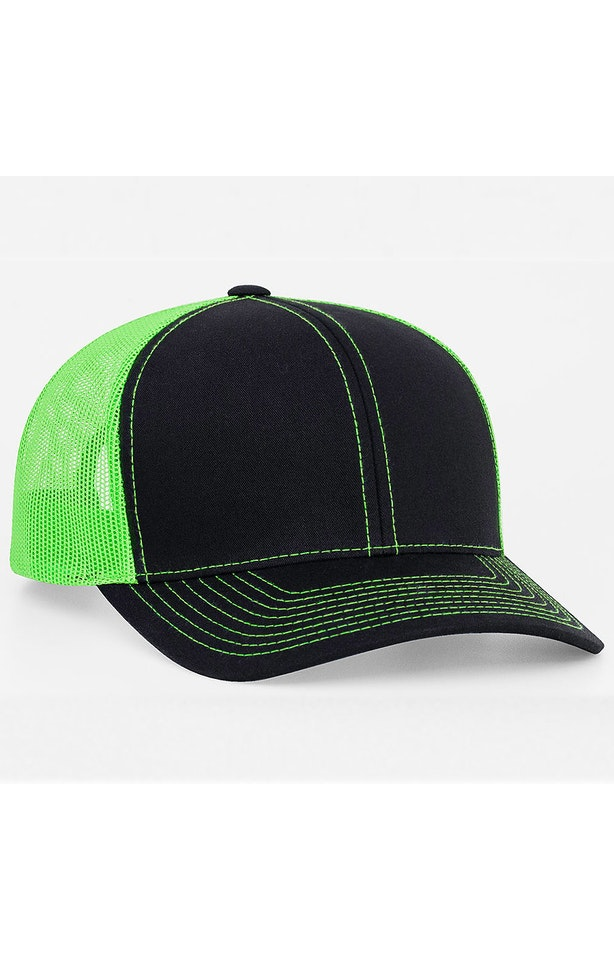 Pacific Headwear 0104PH Black/Neon Green