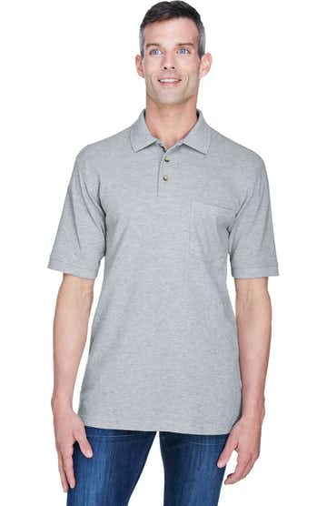 Harriton M200P Grey Heather