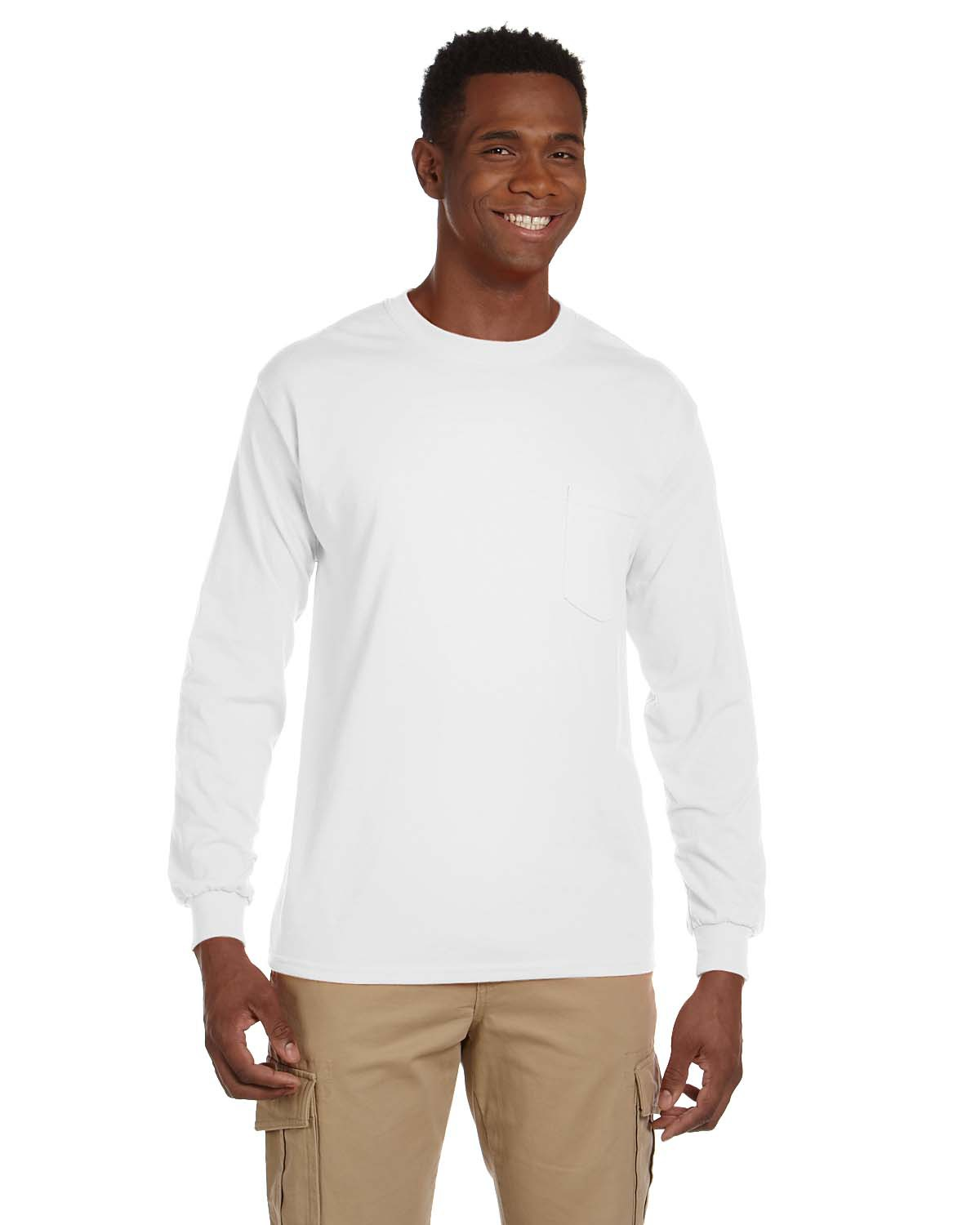 82c8a36a47c3 Gildan G241 Adult Ultra Cotton® 6 oz. Long-Sleeve Pocket T-Shirt ...
