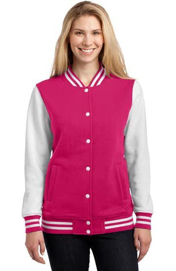 Sport-Tek LST270 Pink Raspberry / White