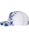 Richardson 112P Island Print Royal/ White