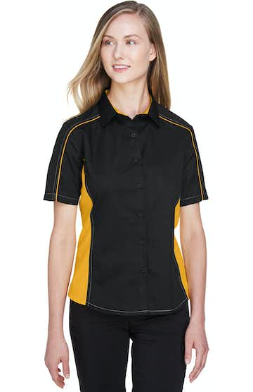 Ash City - North End 77042 Black/Campus Gold