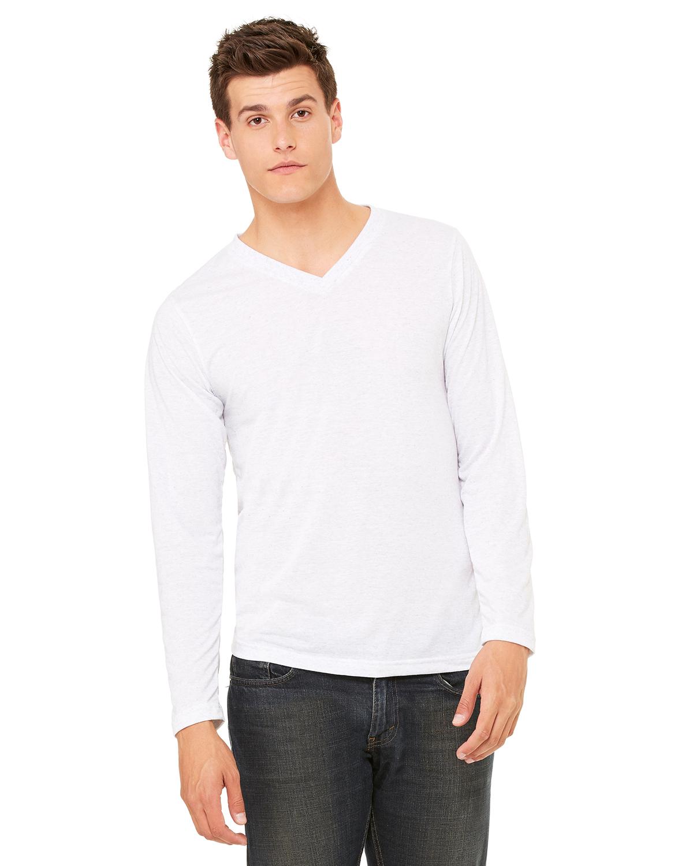 4db06bc5bd5 Bella+Canvas 3425 Unisex Jersey Long-Sleeve V-Neck T-Shirt ...
