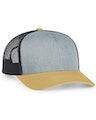 Pacific Headwear 0104PH Heathergrey/Ltcharcoal/Ambergo