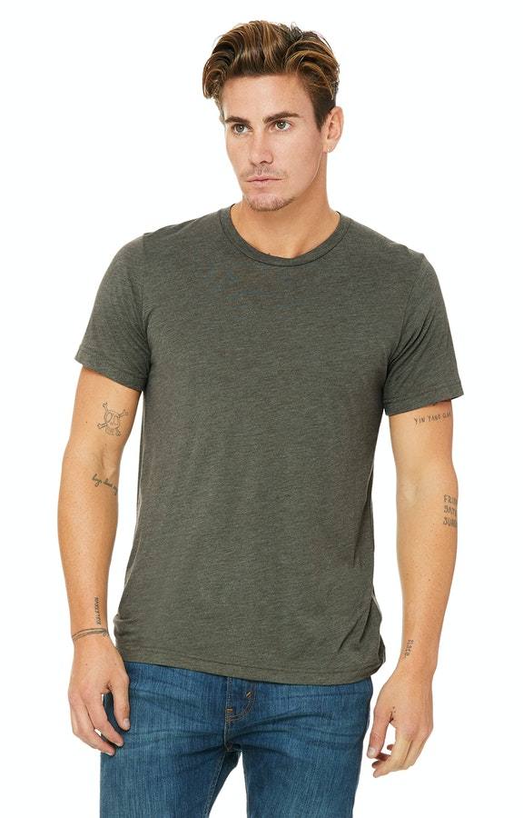 Bella + Canvas 3413C Military Green Triblend