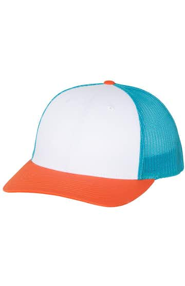 Richardson 115J1 White/ Blue Hawaiin/ Pale Orange