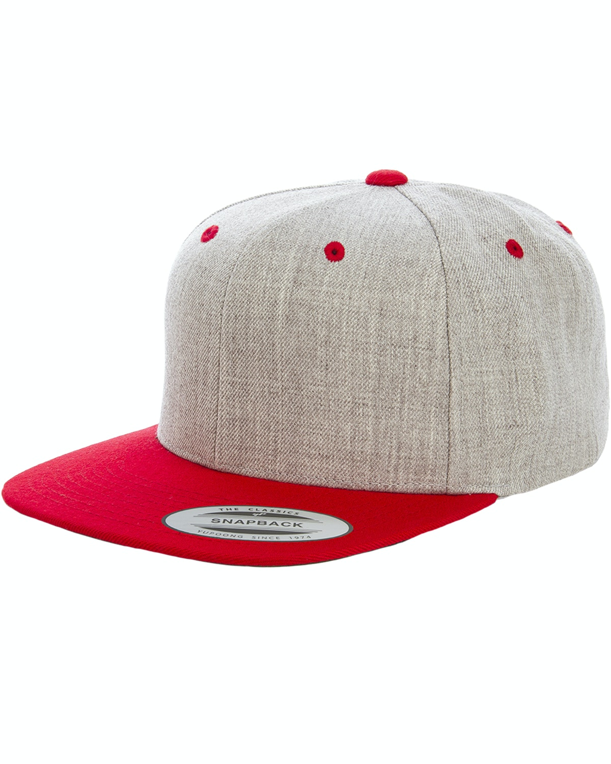 Yupoong 6089MT Heather/Red