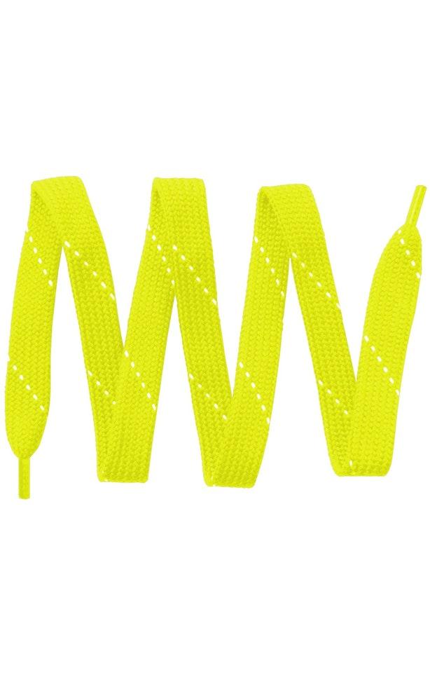 Sport-Tek LACE Neon Yellow / White