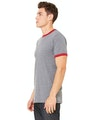 Bella + Canvas 3055C Heather Deep / Cardinal