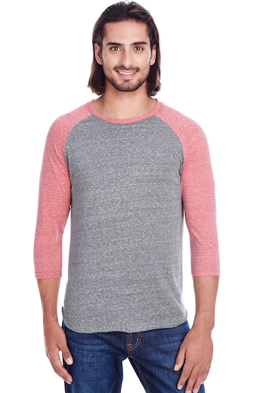 Threadfast Apparel 302G Grey/ Red Tribld