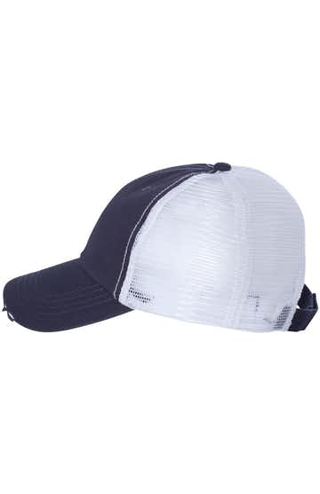 Mega Cap 6887 Navy / White