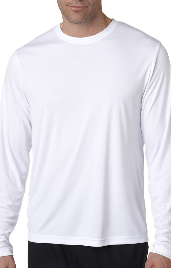 moderate price wide selection of colours and designs pre order Hanes 482L White Adult Cool DRI® with FreshIQ Long-Sleeve Performance  T-Shirt