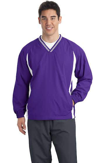 Sport-Tek TJST62 Purple / White