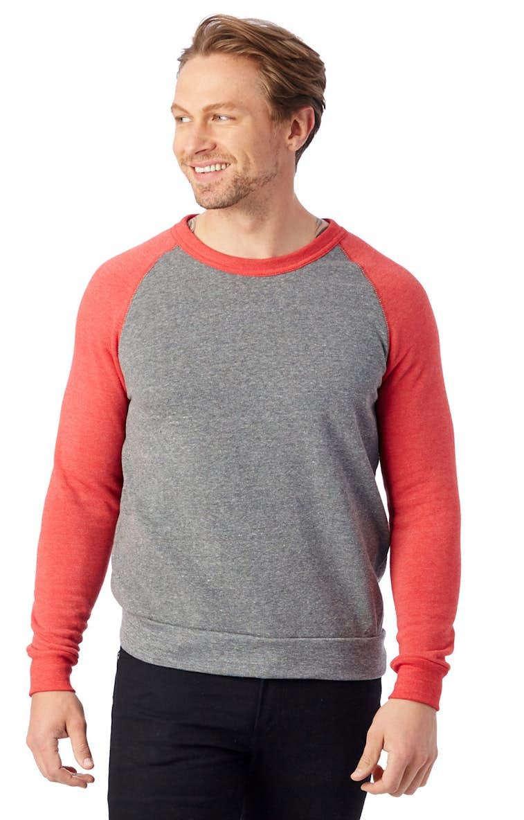 5368226638cd6 Alternative AA3202 Unisex Champ Eco-Fleece Colorblocked Sweatshirt -  JiffyShirts.com