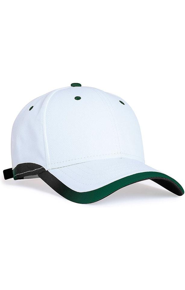 Pacific Headwear 0416PH White/Dkgreen