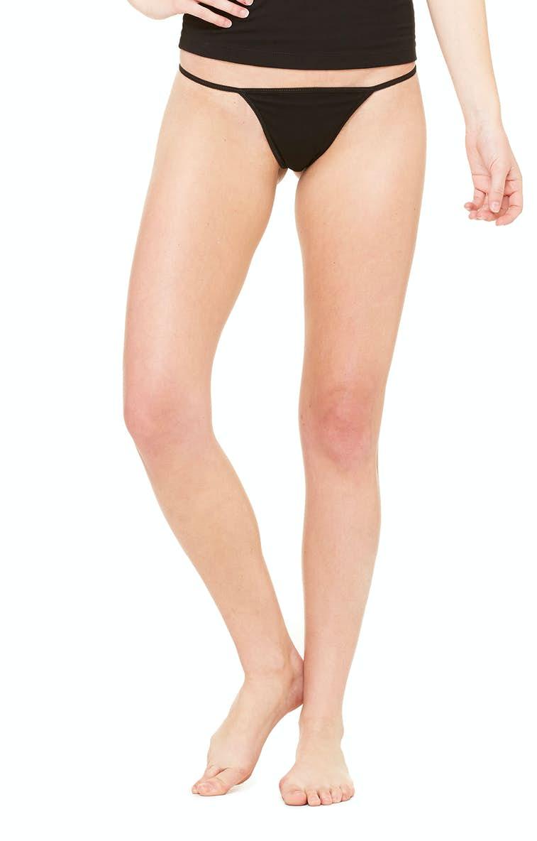 be20041aa82 Bella+Canvas B301 Ladies  Cotton Spandex Thong Bikini - JiffyShirts.com