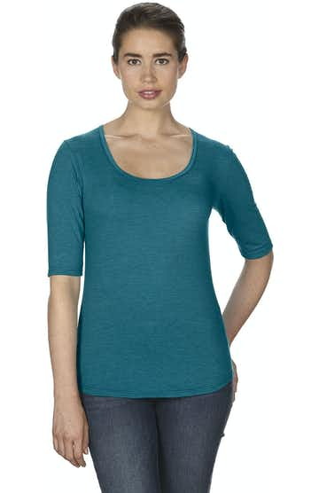 Anvil 6756L Heather Galapagos Blue