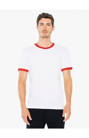 American Apparel BB410 White/Red