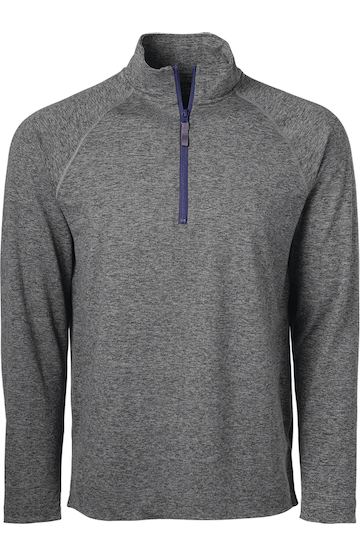 Soffe 2995M GREY HEATHER/NAVY