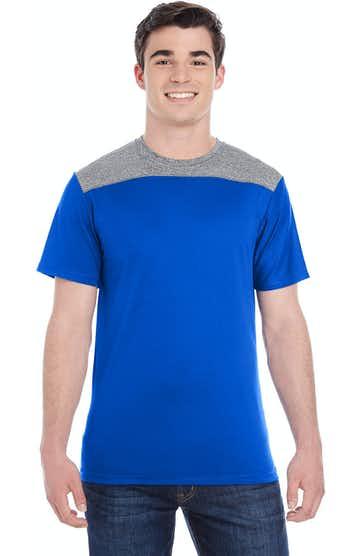 Augusta Sportswear 3055 Royal/ Grp Hthr