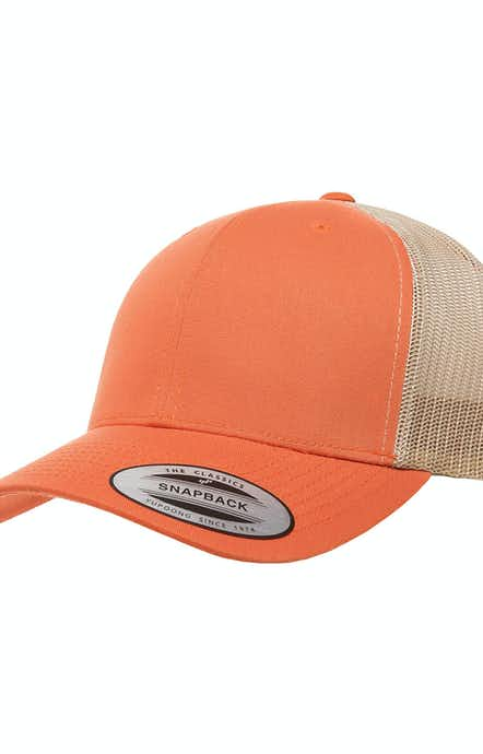 Yupoong 6606 Rust Orange/Khaki