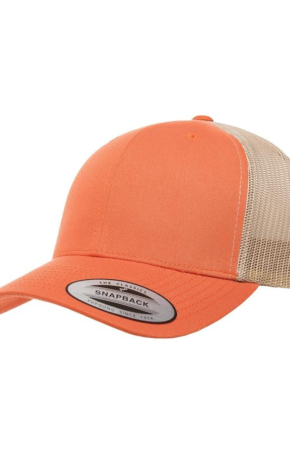 Yupoong 6606 Rust Orange/Khaki