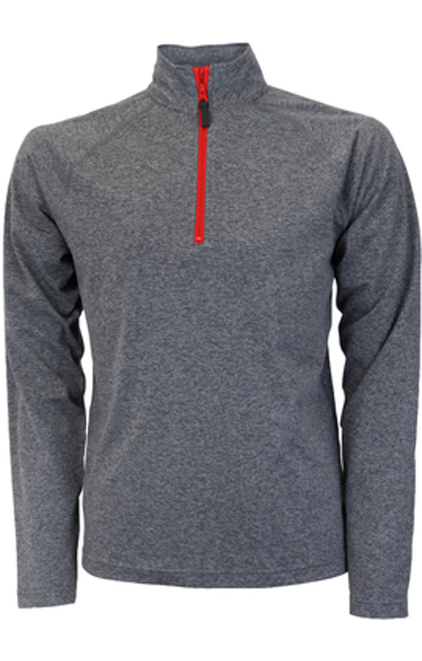 Soffe S2995MP Gray Heather / Red