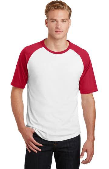 Sport-Tek T201 White / Red