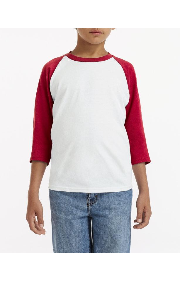 Gildan G570B White/ Red